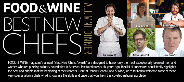 FOOD & WINE BEST NEW CHEFS ALUMNI DINNER - Rick Tramonto, Susan Spicer, Matthew Lightner, Jonathan Sawyer, Jason Franey -- FOOD & WINE magazine's annual